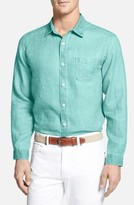Tommy Bahama Men's Big & Tall 'Sea Glass Breezer' Linen Sport Shirt
