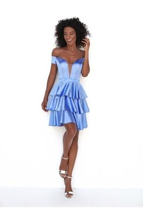 Tarik Ediz Evelin_Tiered Off Shoulder Dress