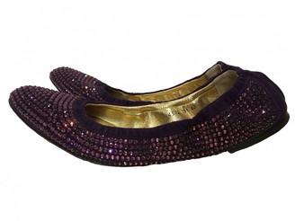 Dolce & Gabbana Purple Glitter Ballet flats