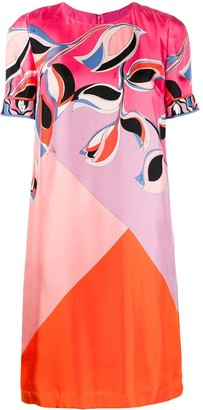 Emilio Pucci printed colour block dress