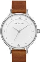 Skagen Women's Anita Leather Strap Watch