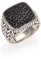 John Hardy Sterling Silver & Black Sapphire Ring