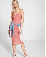 Express Ribbed Sheer Midi Dress