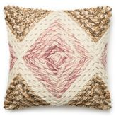 Loloi Nubby Horizontal Square Throw Pillow in Lilac/Beige