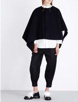 Marni Asymmetric wool cape