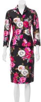 Dolce & Gabbana Silk Floral Printed Skirt Suit