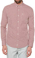 Original Penguin Mini Gingham Dobby Shirt, Syrah