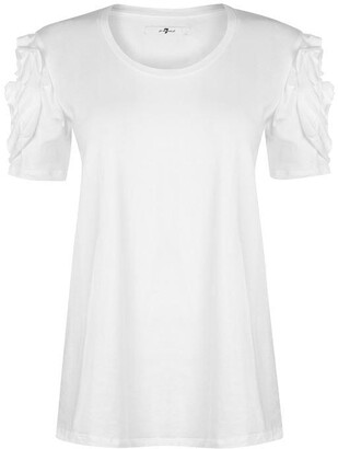 7 For All Mankind 7FAM Ruffle T Shirt Womens