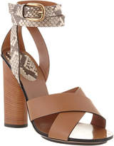 Gucci Candy Leather & Suede Sandal