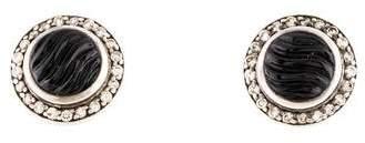 David Yurman Onyx & Diamond Cerise Mini Earrings