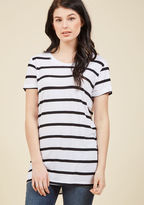 ModCloth Simplicity on a Saturday Tunic in White Stripes in 3X