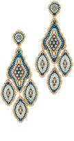 Miguel Ases Beaded Chandelier Earring