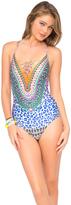 "Luli Fama Lil Gem ""Be Scene"" Lace Up One Piece in Multicolor (L448907)"