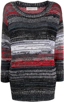 Lamberto Losani Knitted Striped Jumper