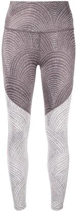 Beyond Yoga Abstract Line-Print Leggings