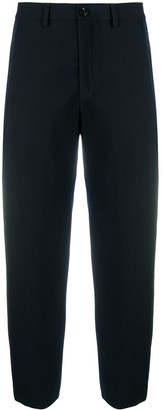Closed Cropped-Leg Tailored Trousers