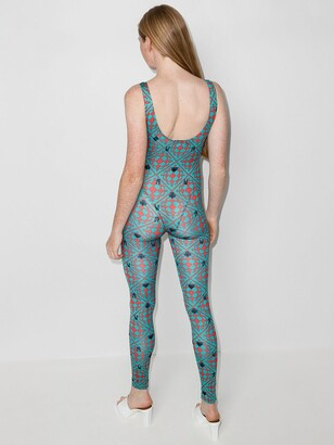 MAISIE WILEN Revenge geometric-print bodysuit