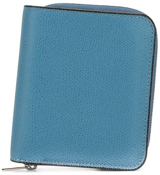 Valextra Pebbled Zip-Around Wallet