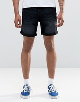 ONLY & SONS Denim Short in Black