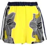 3.1 Phillip Lim Floral-Print Tulle-Paneled Silk-Crepe Shorts