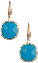 Rivka Friedman 18K Gold Clad Cushion Magnesite Dangle Earrings