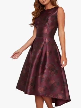 Chi Chi London Huxley Dress, Burgundy