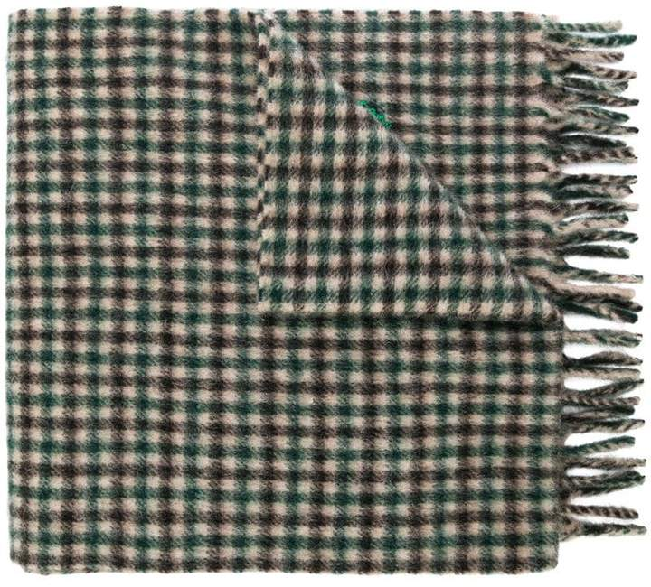 Gucci embroidered checked scarf