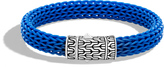 John Hardy Men's Classic Chain 10.5MM Station Bracelet in Sterling Silver and Rubber