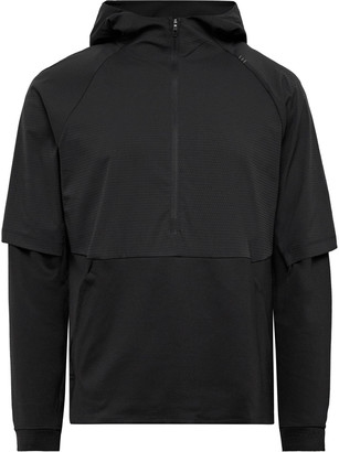 Lululemon Mobility Train Quilted Shell And Jersey Half-Zip Hoodie
