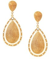 Gottex 18k Rose Gold Plated Cz Drop Earrings.