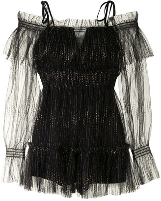Alice McCall Augustine off-shoulder playsuit
