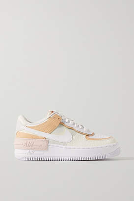 Nike Air Force 1 Shadow Se Leather Sneakers - White