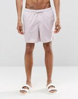 Asos Swim Shorts In Lilac Mid Length