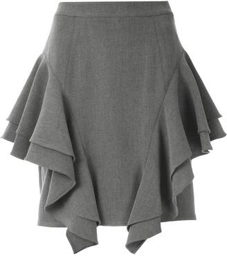 Olympiah Frill Layered Mini Skirt