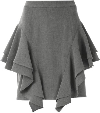 Olympiah frill layered mini skirt