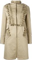 Ermanno Scervino pleat detail coat