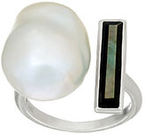 Honora Cultured Pearl 13.0mm Baroque & Mother-of-Pearl Sterling Ring