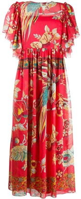 RED Valentino Bird of Paradise-print dress