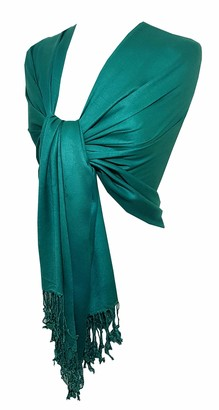 New Silky Feel Pashmina Scarf Wedding Shawl Party Wear Day To Evening Occasions Factory Clearance with Defects Major/Minor Cheaper then Wholesale Price Include Post By KSC (Green)