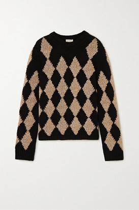KHAITE Penny Argyle Cashmere-blend Sweater - Tan