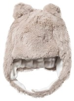 Mayoral Taupe Faux Fur Bear Trapper Hat