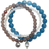 Satya Set of 3 Gemstone Bead Stretch Bracelets