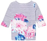 Joules Navy and Floral Stripe Jersey Top
