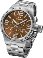 TW Steel CB24 Men's Canteen Bracelet Brown Dial Stainless Steel Chronograph Watch