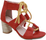 Lola Shoes LoLa Shoes Women's Sandals Red - Red Rope-Tie Cutout Sandal - Women