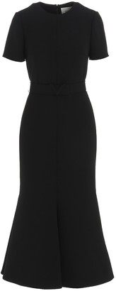 Valentino Belted Short Sleeve Dress