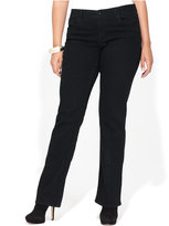 INC International Concepts Plus Size Jeans, Bootcut, Black Wash
