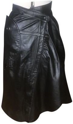 Tsumori Chisato Black Leather Skirt for Women