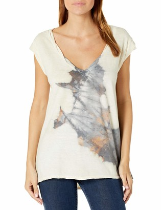 Pam & Gela Women's Kate V Neck Tee-Grunge Wash M