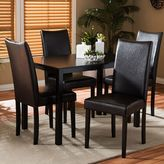 Baxton Studio Berreman Dining Table & Chair 5-piece Set